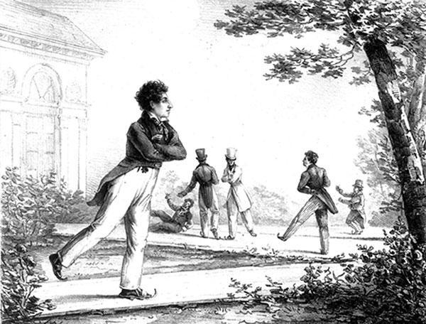 L'école de Robillon en 1823 - Gravure (G. de Galard) / Musée Carnavalet
