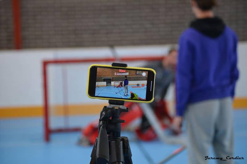 Séance d'entraînement de roller hockey avec Jérémy Defossez