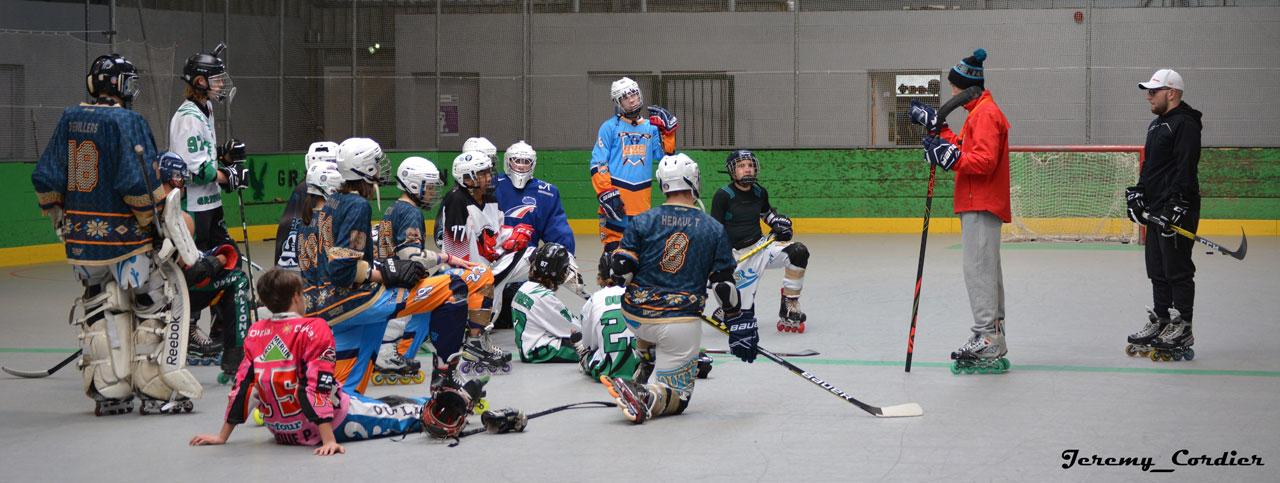 Séance d'entraînement roller hockey avec Jérémy Defossez