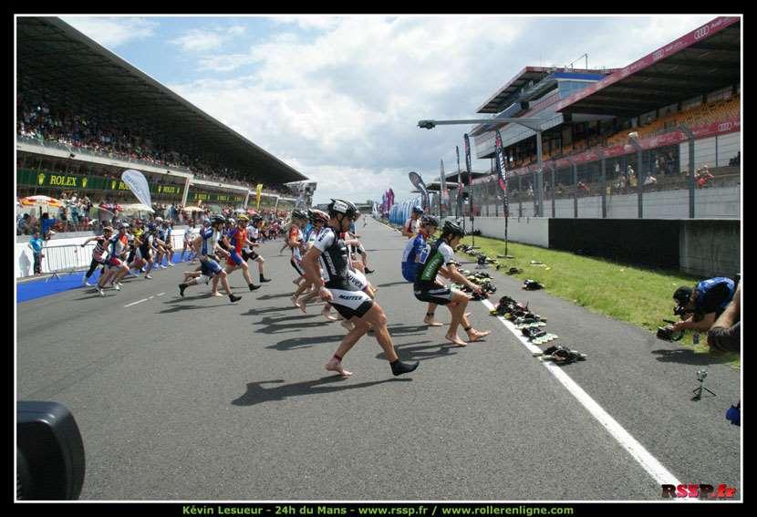 Le départ des 24 Heures Roller 2012 au Mans