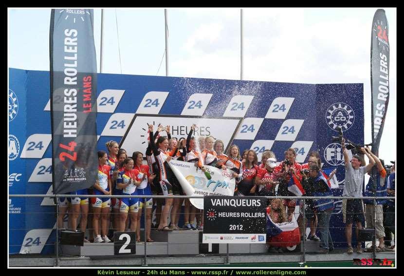 Le podium du classement général féminin
