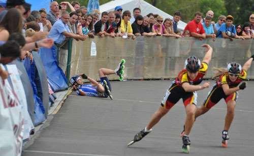 3ème jour de compétition au championnat d'Europe 2012 de roller course à Szeged (Hongrie)