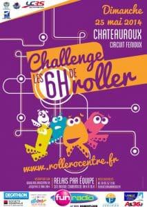 Challenge des 6 Heures Roller 2015 à Châteauroux (36) @    Châteauroux     