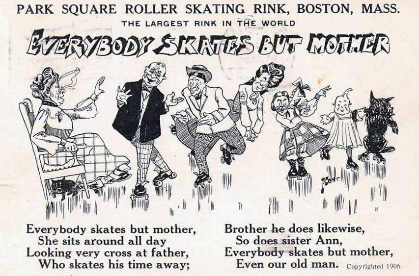 Publicité pour un skating rink de Boston (MA. USA) en 1906