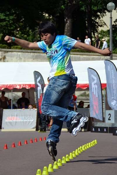 Le coréen Lee Choong Goon en slalom classic