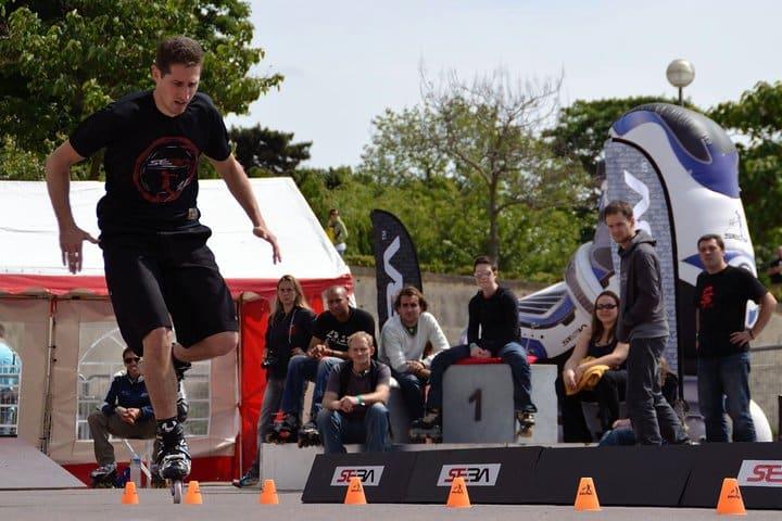 JB Milleret en speed-slalom