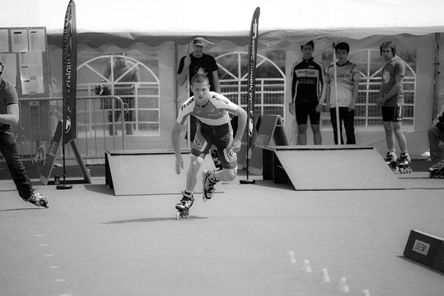 Yohan Fort en speed-slalom