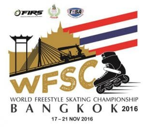Championnat du monde de roller Freestyle 2016 à Bangkok (Thaïlande) @    Bangkok     