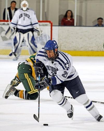 Action de hockey sur glace
