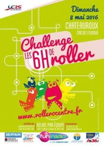 Challenge des 6 Heures Roller 2016 à Châteauroux (36) @    Châteauroux     