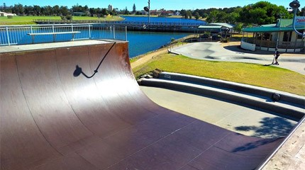 anatomie rampe roller half pipe small