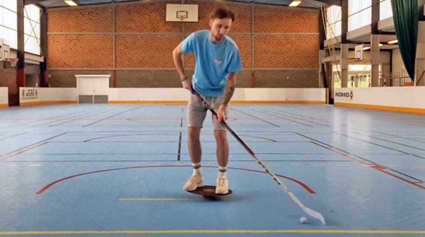 apprendre maniement crosse roller hockey desequilibre small