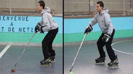 apprendre patinage arriere roller hockey small