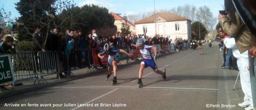 Arrivée serrée pour Julien Levrard et Brian Lépine