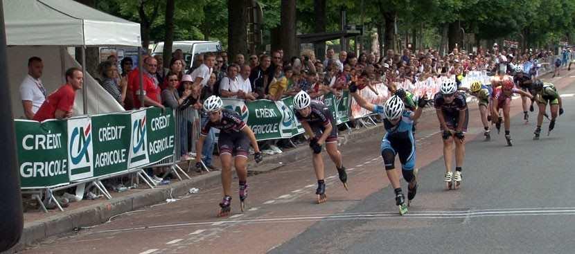 Arrivée des femmes au marathon roller de Dijon