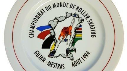 assiette championnats monde roller course 1994 small