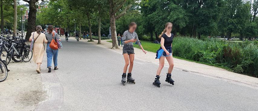 Balade en roller au Vondelpark d'Amsterdam