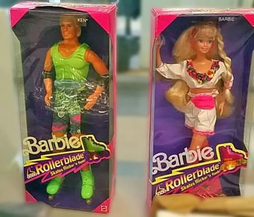 Barbie Ken Rollerblade