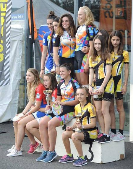 Podium Juniors dames