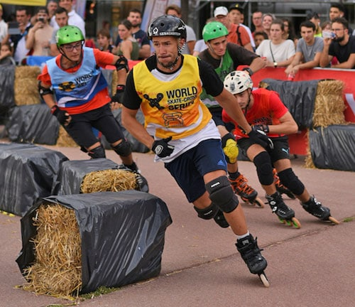 Florian Petitcollin en tête de la course