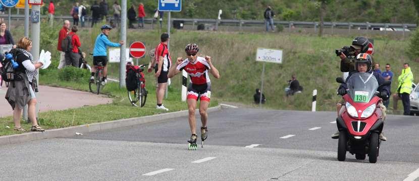 Sprint d'arrivée des hommes au marathon de Francfort 2012