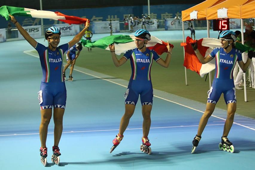 L'équipe d'Italie vainqueure chez les seniors dames