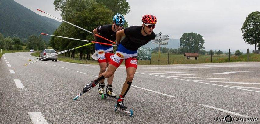 La course de rollerski du Rollathlon 2016