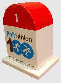 La borne du Rollathlon 100