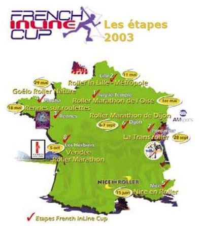 Carte de la French Inline Cup 2003