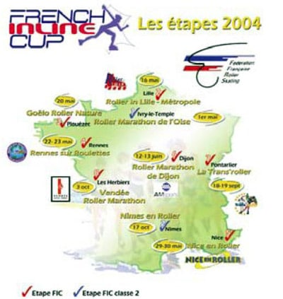 Carte de la French Inline Cup 2004
