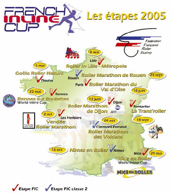 Carte de la French Inline Cup 2005