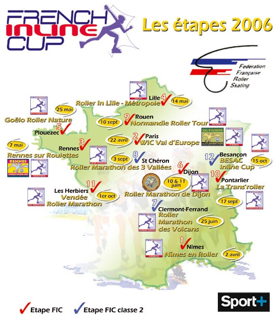 Carte de la French Inline Cup 2006