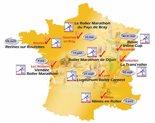 Carte de la French Inline Cup 2009