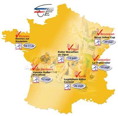 Carte de la French Inline Cup 2010