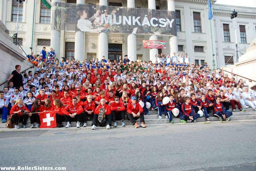 Cérémonie d'ouverture des championnats d'Europe de roller course 2012