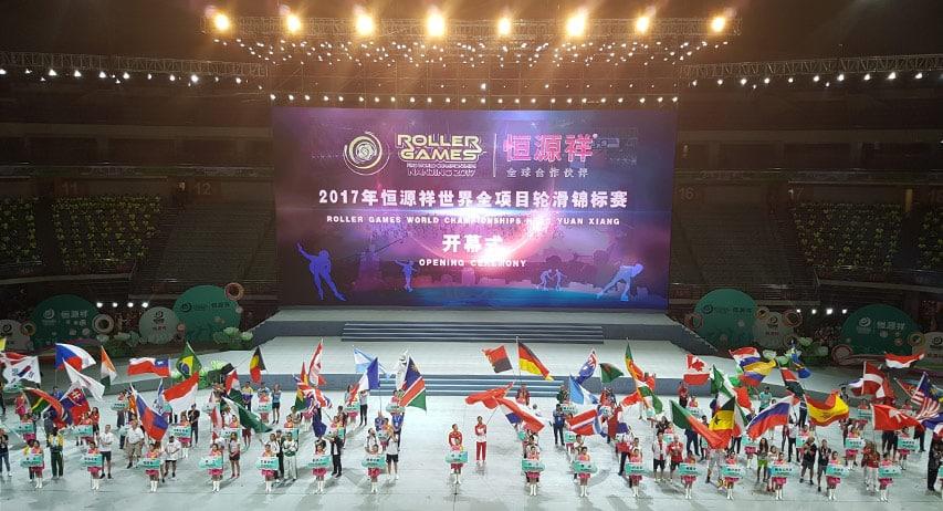 Cérémonie d'ouverture World Roller Games 2017