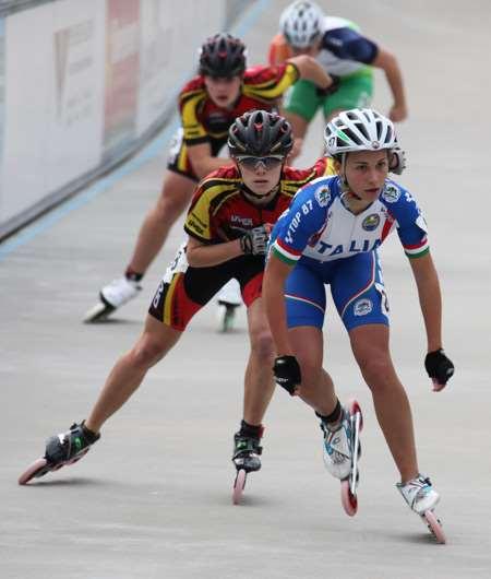 Les 500 m sur piste au championnat d'Europe de vitesse 2011 - juniors dames