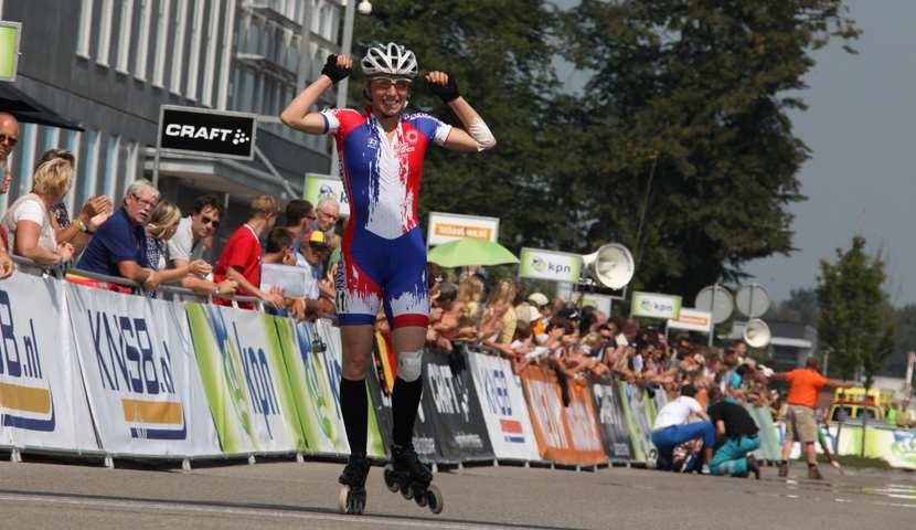Nathalie Barbotin a remporté le 10 km à points sur route des championnats d'Europe de vitesse aux Pays-Bas, à Zwolle