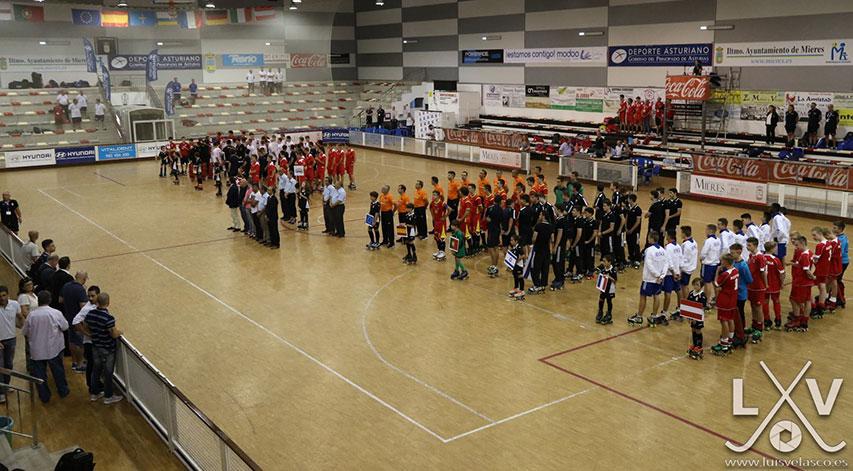 Cérémonie d'ouverture de l'Euro rink u17 2016