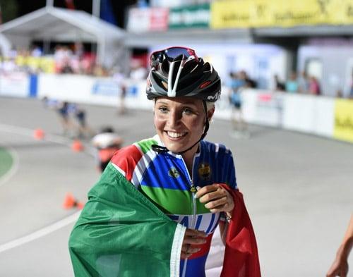 Championnat d'Europe de roller course 2015 : Francesca Lollobrigida