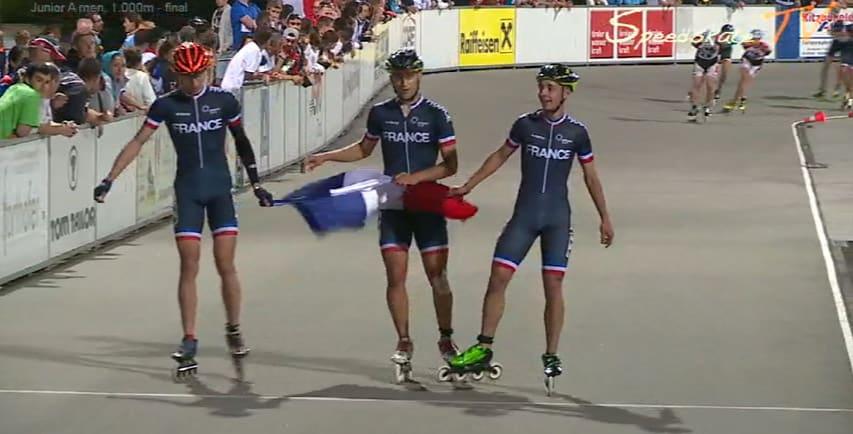Triplé de l'équipe de France sur 1000 m
