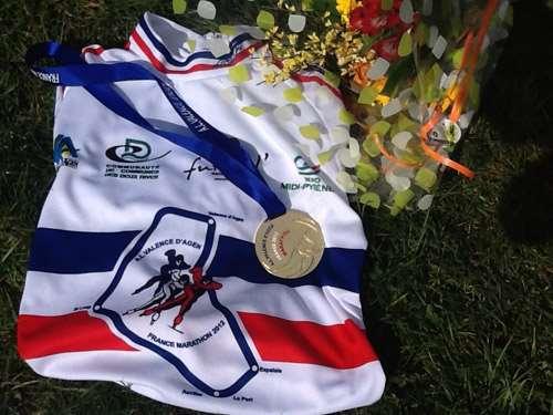 Le maillot de champion de France Marathon 2012