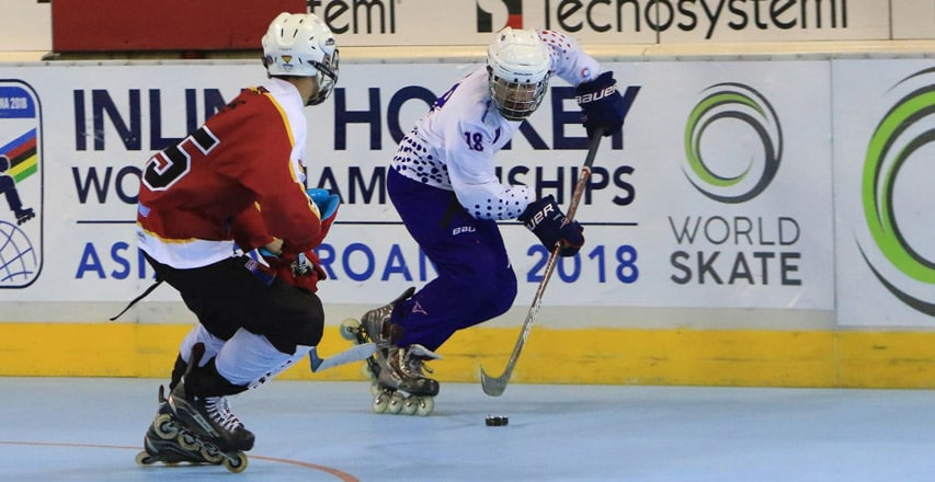 Mondial roller hockey junior 2018 : France Espagne