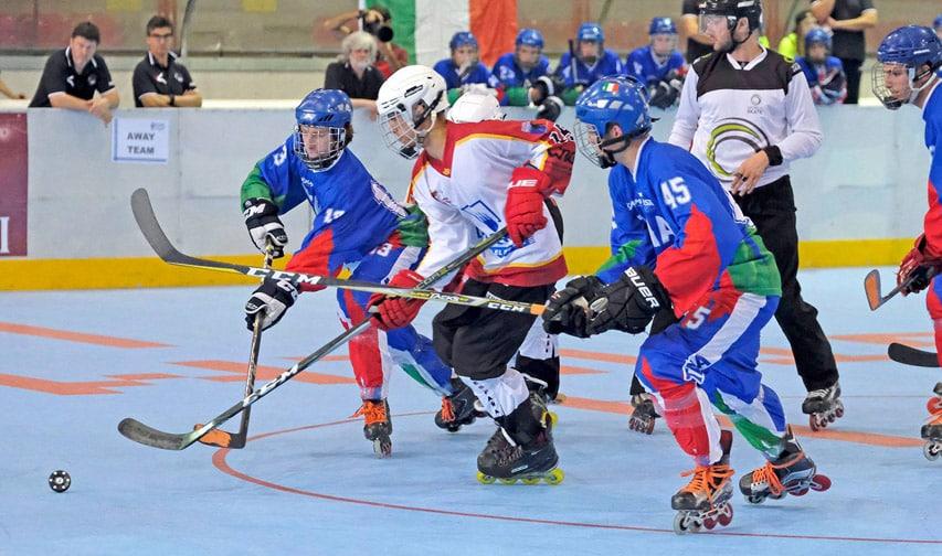 Mondial roller hockey junior 2018 : Italie Espagne