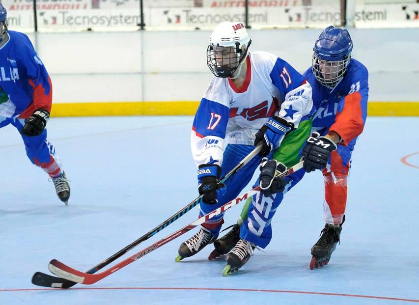 Mondial roller hockey junior 2018 : Italie USA