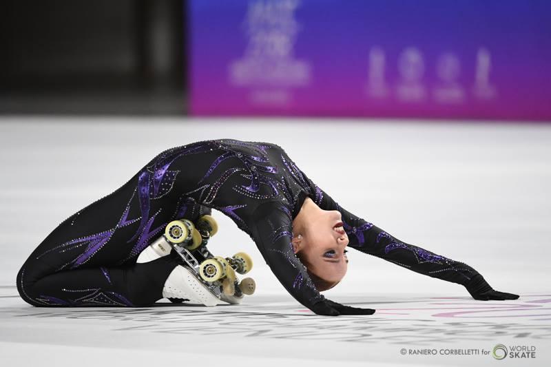 Danse sur roulettes au Championnat du Monde de roller artistique 2018