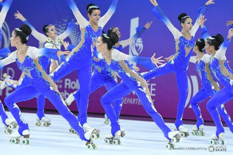 Groupe aux Championnats du Monde de roller artistique 2018