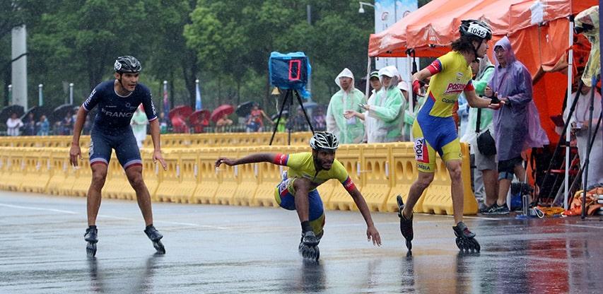 Duel colombien sur la ligne d'arrivée