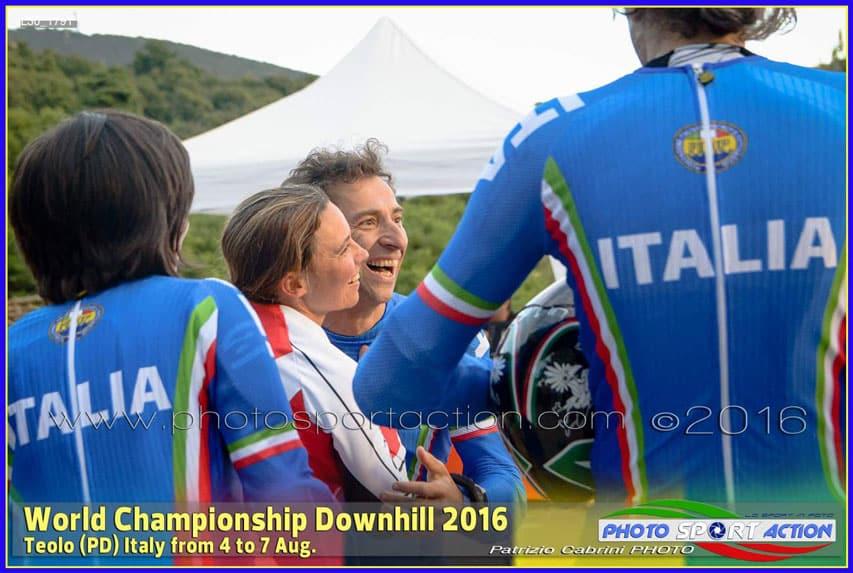 Félicitations au vainqueur du championnat du monde Angelo Vecchi