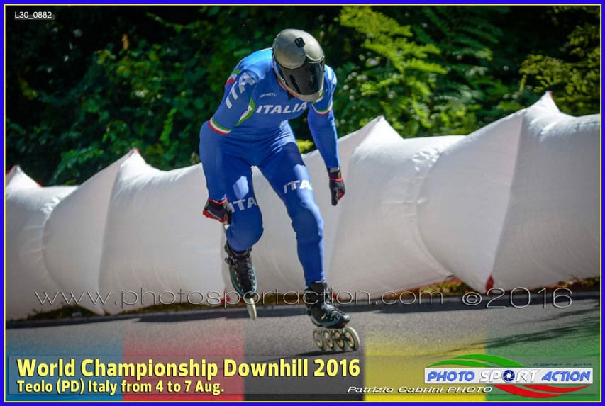 Angelo Vecchi - champion du monde de roller de descente